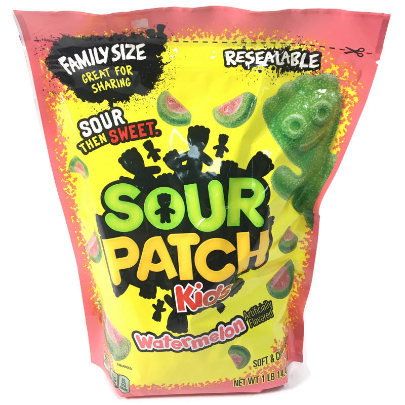 Sour Patch Kids Watermelon Resealable Family Size 30.4 Oz (1.9 lbs) Bag