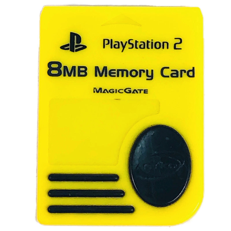 Nyko Sony Playstation 2 PS2 MagicGate 8MB Yellow Memory Card