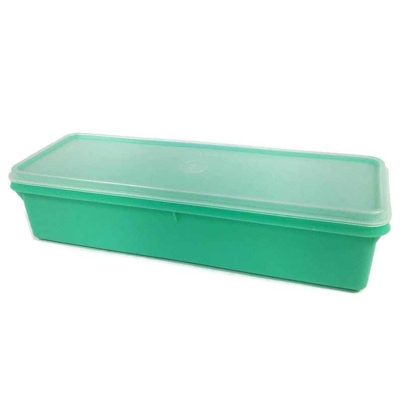 "Tupperware Green Vegetable Crisp Keeper 13"" Container 892"