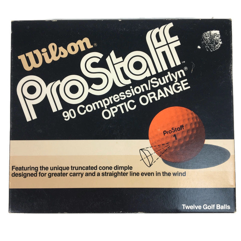 Wilson ProStaff 90 Compression Surlyn Optic Orange 12 Golf Ball Set