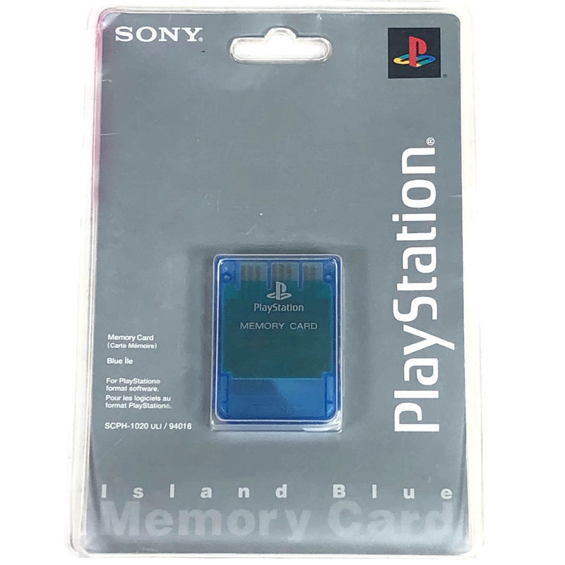 Sony Playstation 1 PS1 Island Blue Memory Card SCPH-1020
