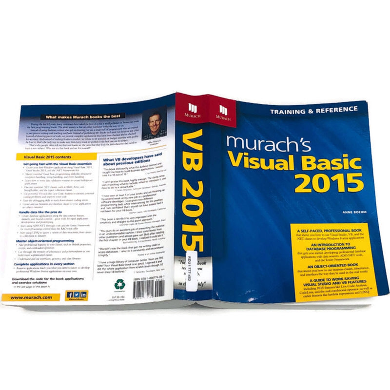 Murachs Visual Basic 2015 Training & Reference Anne Boehm Paperback Book