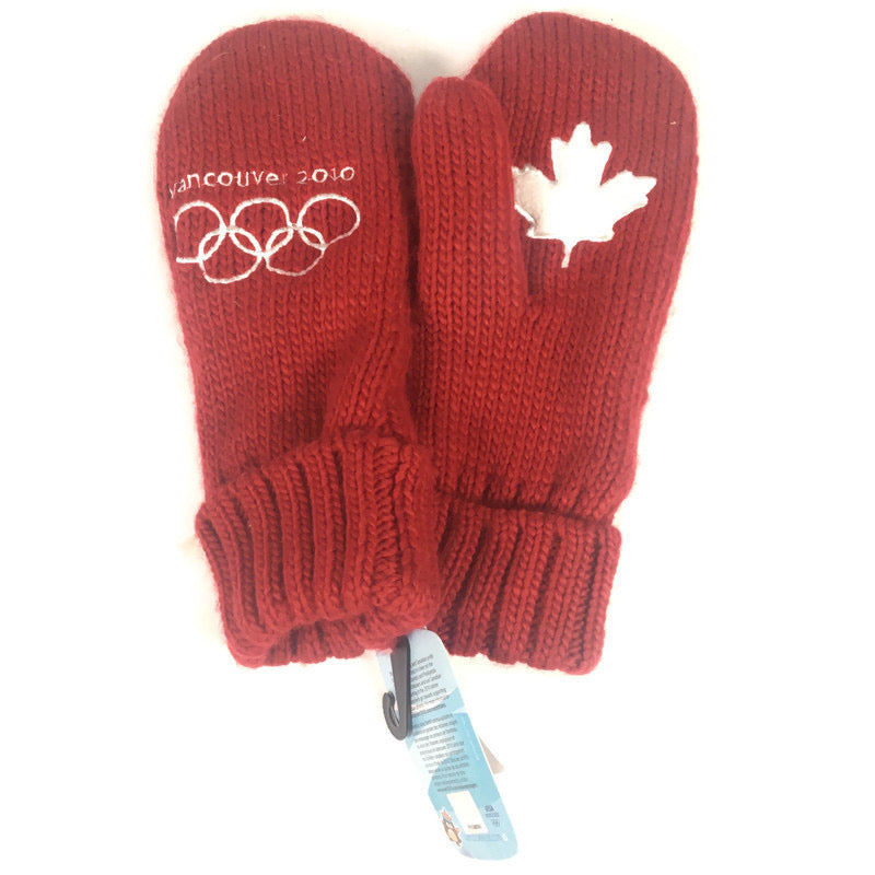 Vancouver Canada Winter Olympics 2010 Red Winter Mitten Gloves