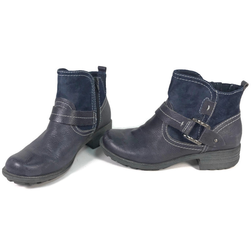 Earth Spirit Montgomery Ladies Leather Side Zip Casual Western Ankle Boots