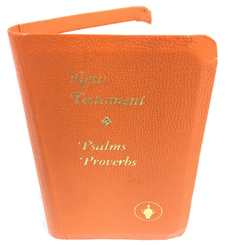 The Gideons International New Testament Psalm Proverbs Small Orange Pocket Bible