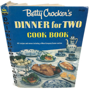 Betty Crockers 1958 Dinner For Two First Edition Third Printing Cook Book