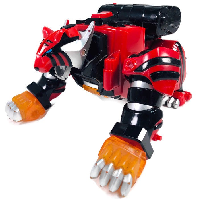 Power Rangers Jungle Fury Pride Megazord Red Tiger Zord Spinning Toy