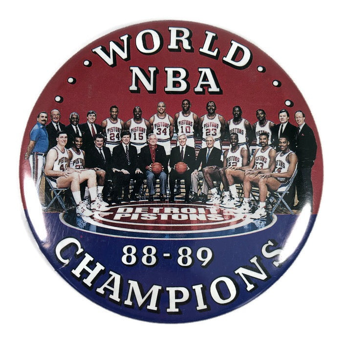 "Detroit Pistons World NBA 88-89 Champions Basketball  3.5"" Pin Badge"