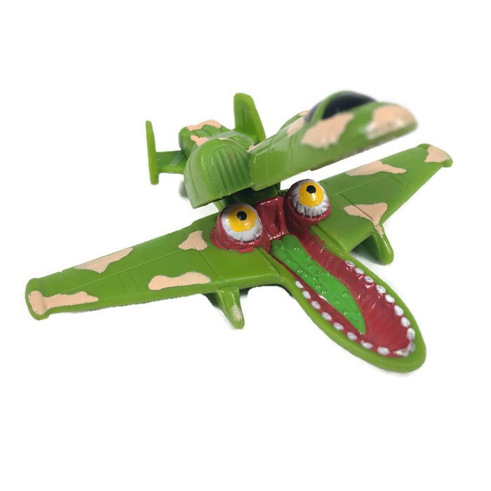 Hot Wheels Attack Pack 1994 Mcdonalds Camo Jet Plane Toy #2