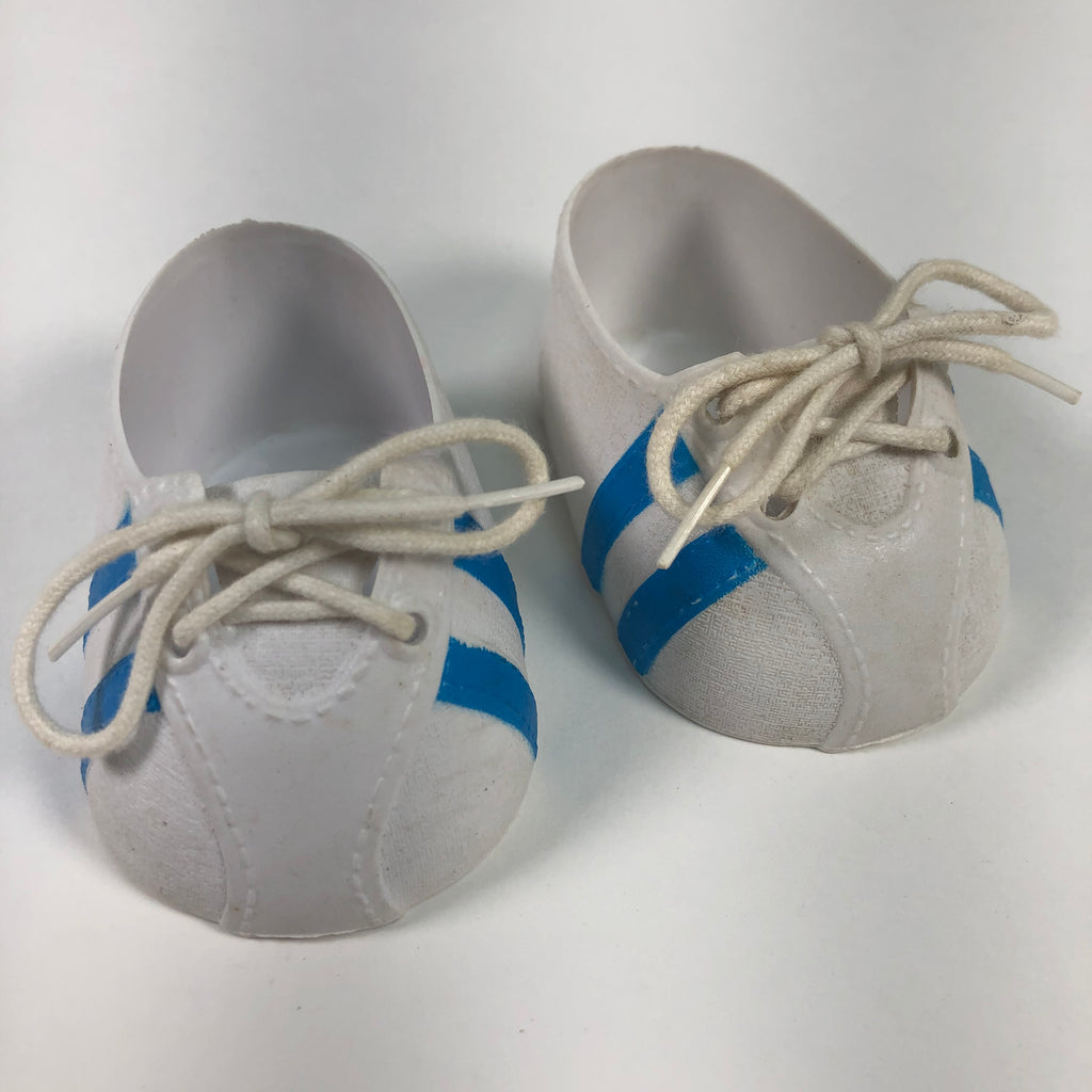 Cabbage Patch Kids CPK White & Blue Striped Doll Shoes
