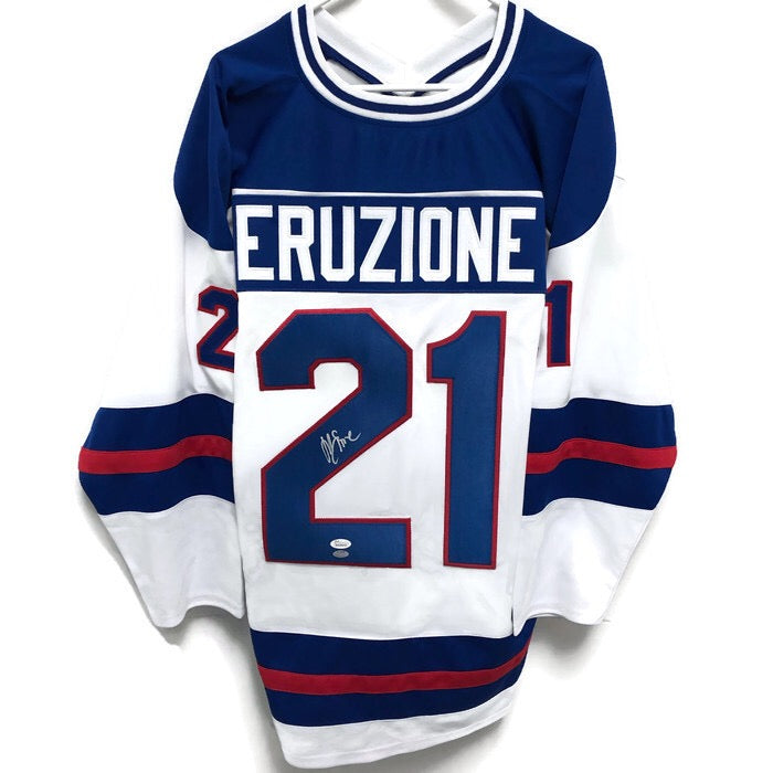 Mike Eruzione Miracle On Ice USA Hockey Autographed Jersey Signed JSA COA