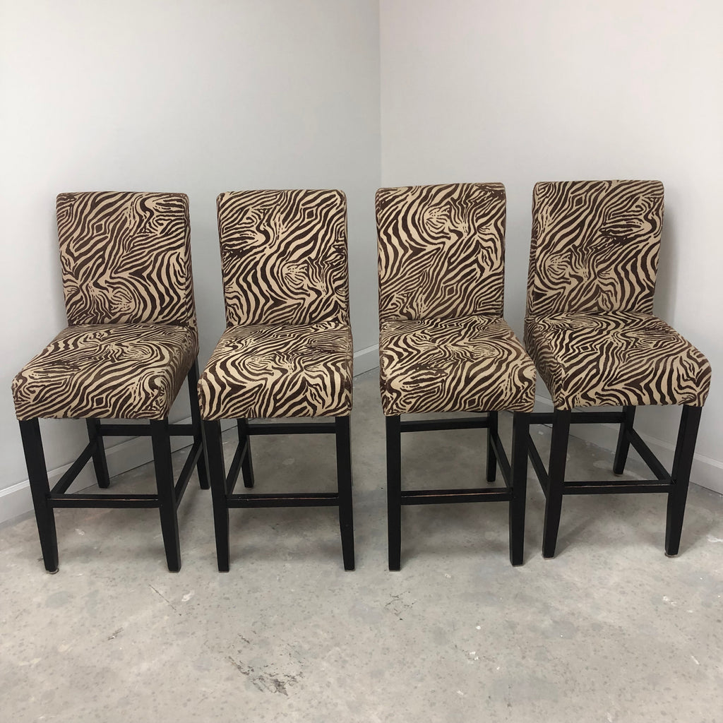 "Zebra Print 41"" Bar Stool"