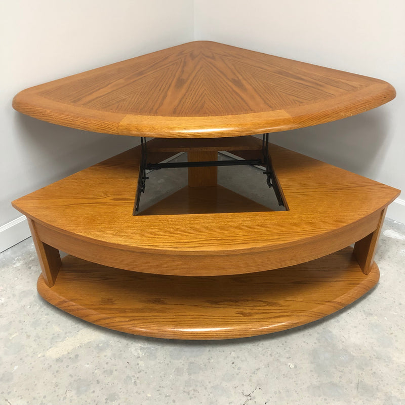Solid Oak Round Edge Table Set