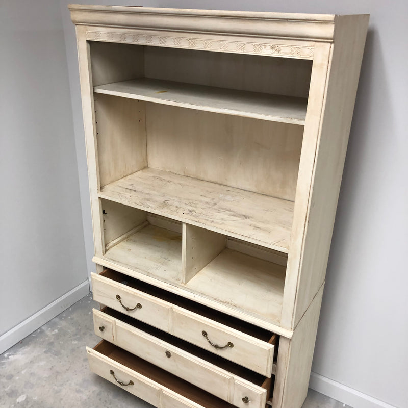 Off White Distress Wood Bedroom Set