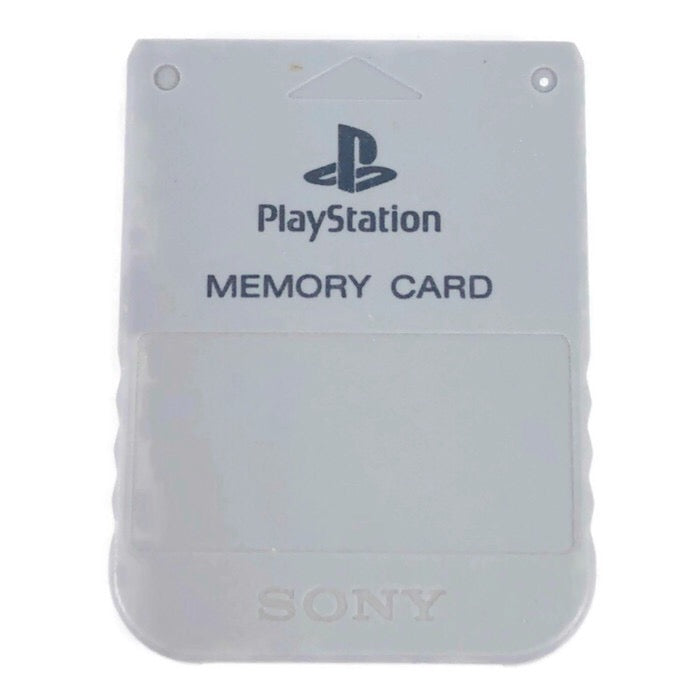 Sony Playstation 1 PS1 Grey Memory Card SCPH-1020