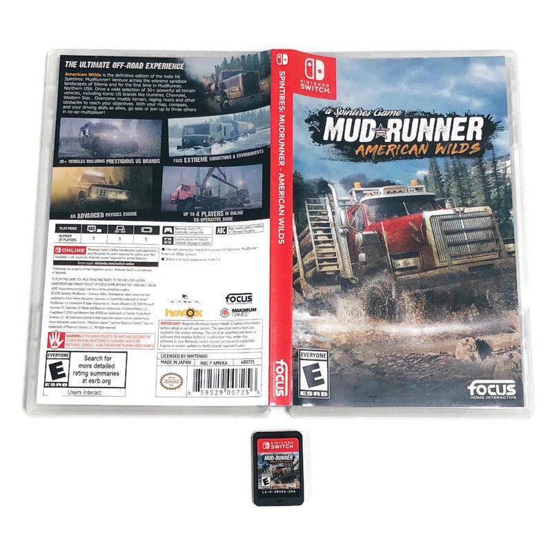 Spintires Mud Runner American Wilds Nintendo Switch