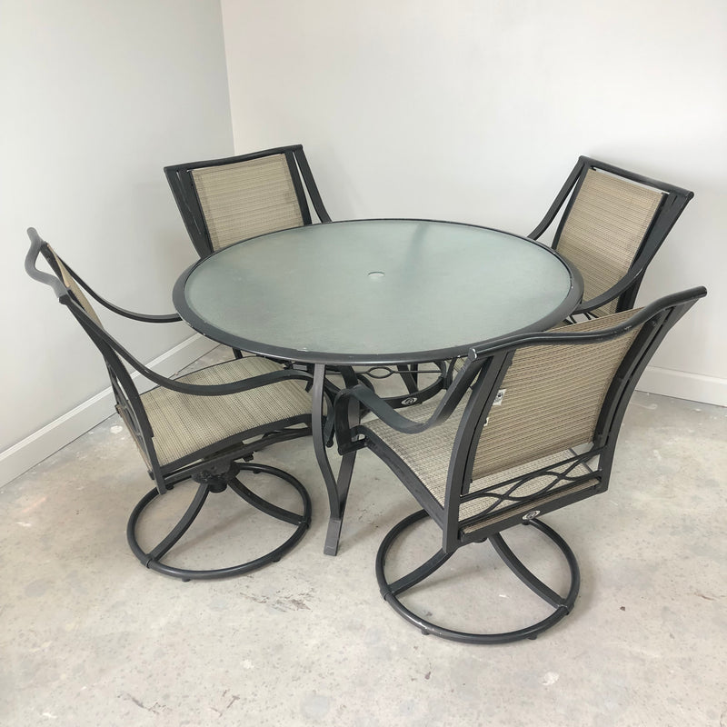 "Hampton Bay 5 Piece Patio Outdoor 48"" Table & Chairs Set"