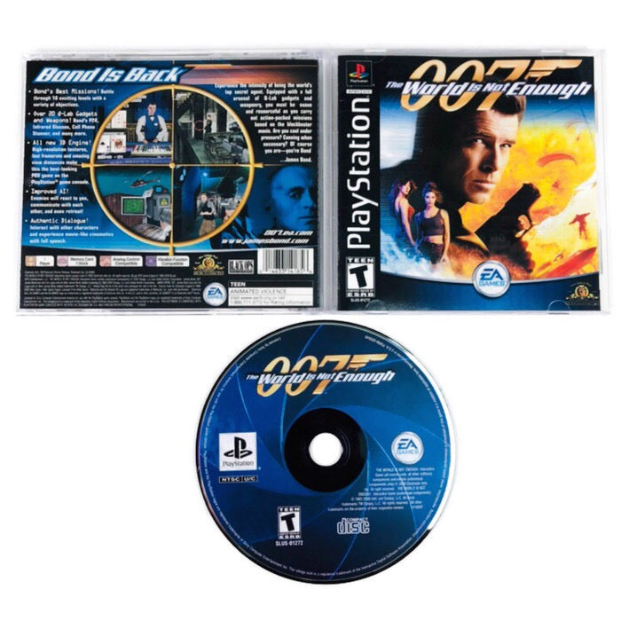 007 The World Is Not Enough Black Label Sony Playstation 1 Ps1 Ebay