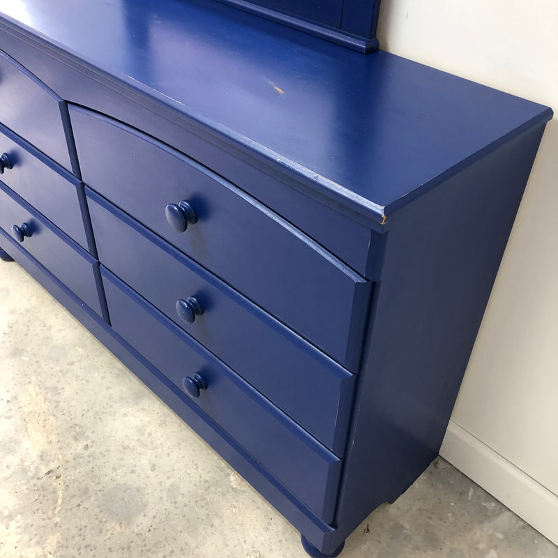 Ashley Furniture Twin Replicated Pine Blue Bedroom Set