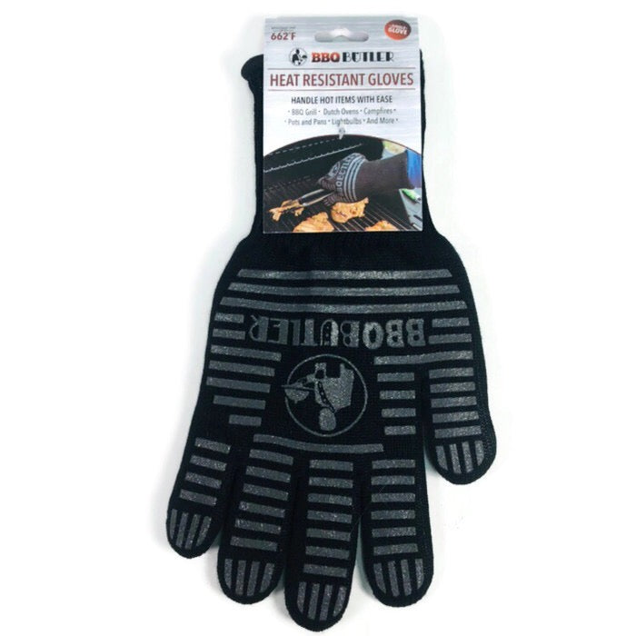 BBQ Butler Heat Flame Resistant Black Cooking Grilling Oven Single Glove