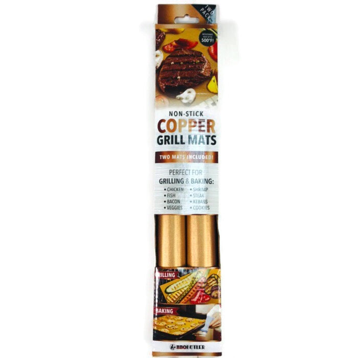 BBQ Butler Non-Stick Copper Grilling Baking Mats Two Pack