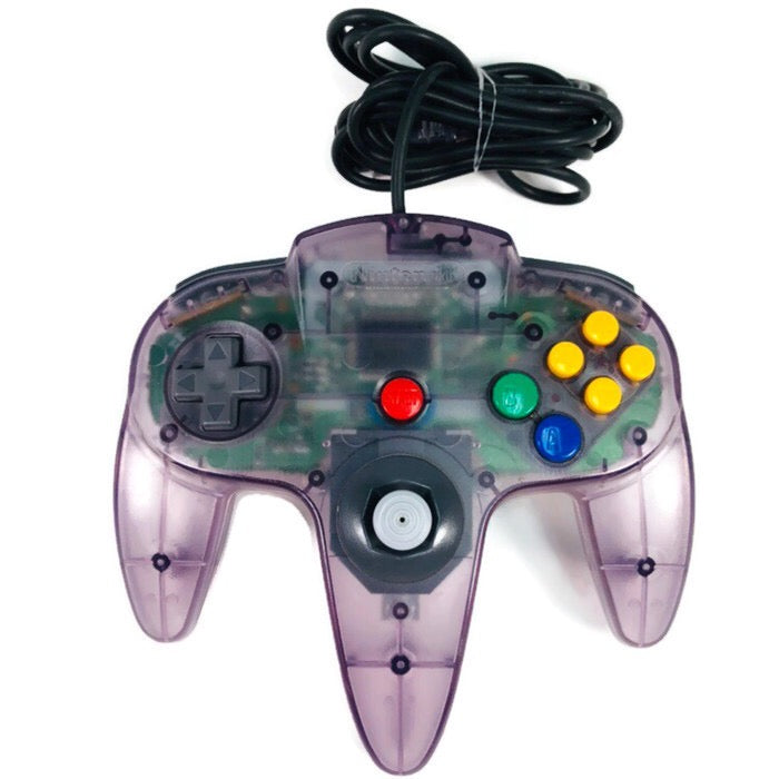 Nintendo 64 N64 Clear Atomic Purple Controller *Authentic*