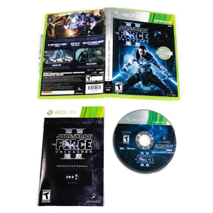 Star Wars The Force Unleashed II 2 Platinum Hits Microsoft Xbox 360