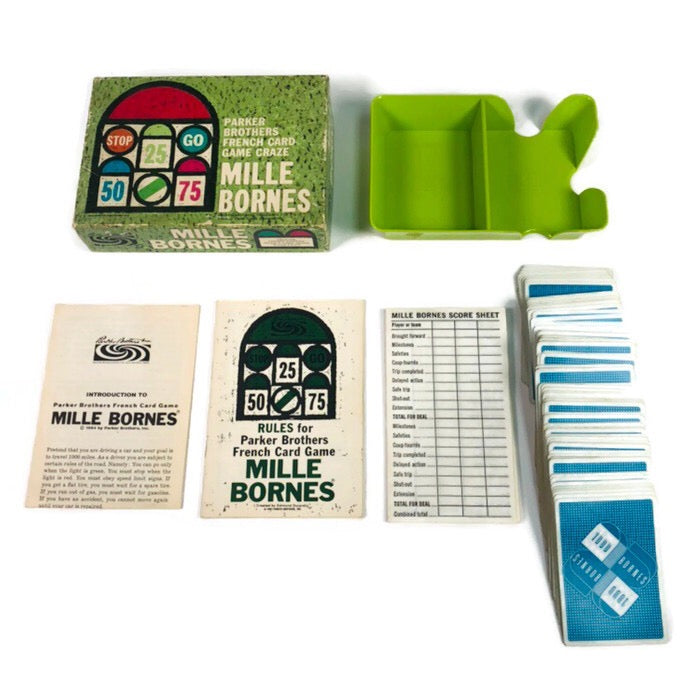 Mille Bornes 1964 Parker Brothers French Card Game