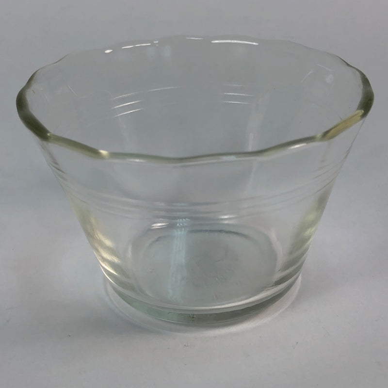 "(6) Pyrex 5 oz. Scalloped Edge Glass Custard Ice Cream Dessert Cup 3 1/4"" Bowl Set 462"