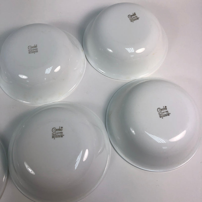 "(6) Corelle Corning Winter Frost White 6 1/4"" Salad Soup Cereal Bowl Set"