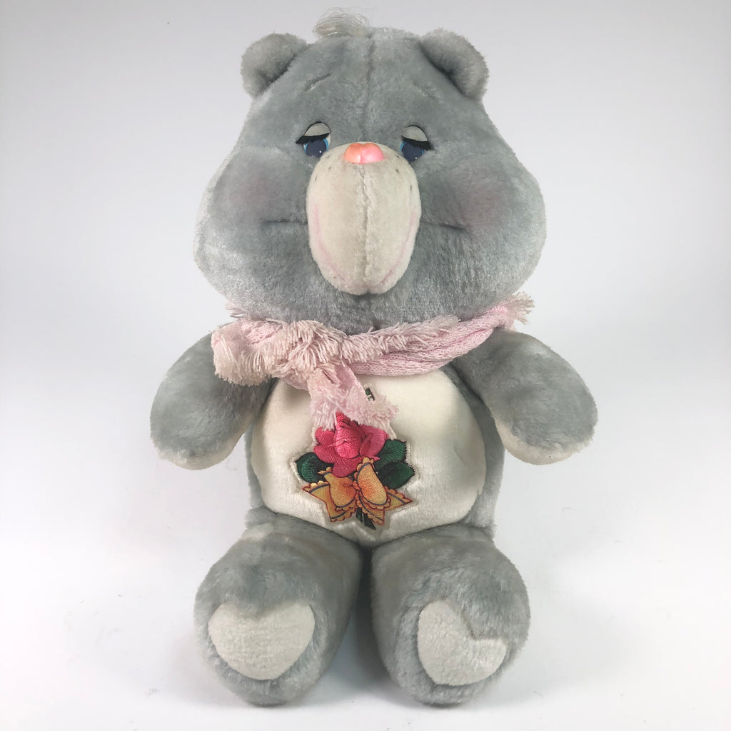 Care Bears 1983 Grey Grandma Grams Stuffed Bear w/ Shawl