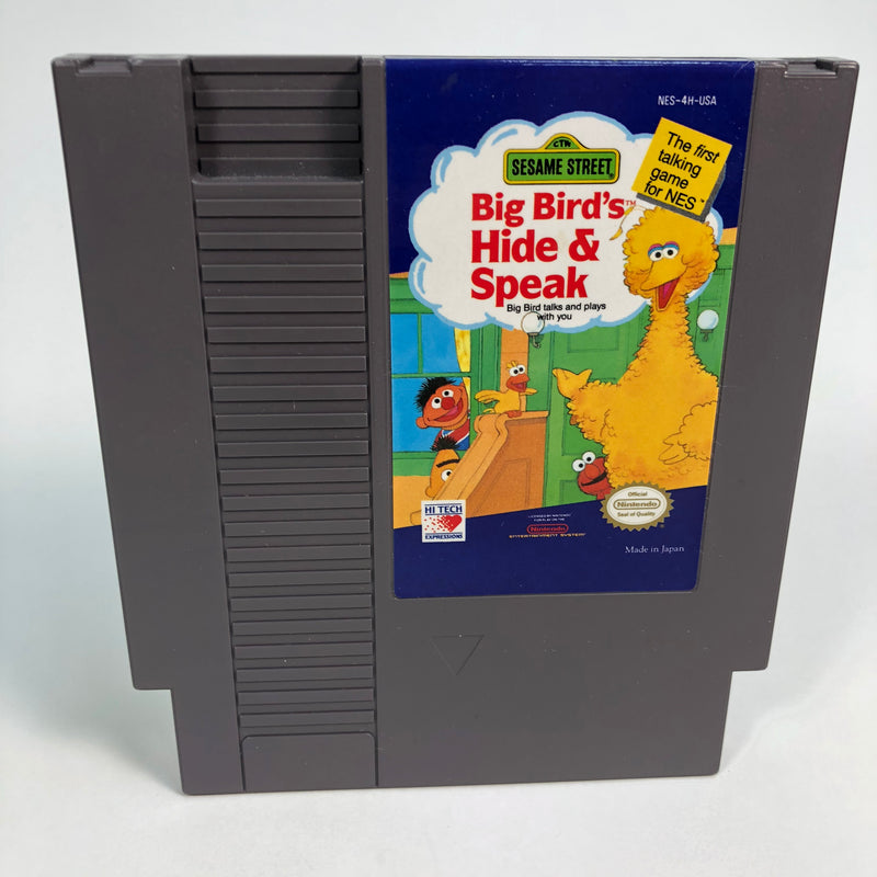 Sesame Street: Big Bird's Hide & Speak Complete NM NES Nintendo