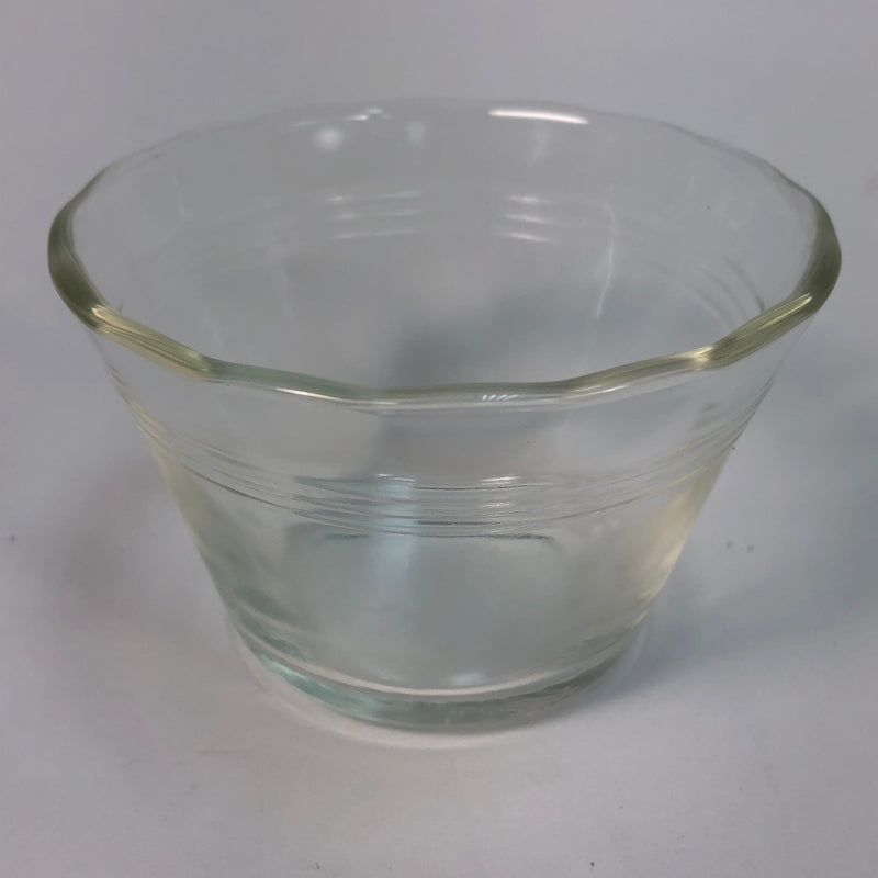 "(1) Pyrex 5 oz. Scalloped Edge Glass Custard Ice Cream Dessert Cup 3 1/4"" Bowl 462"