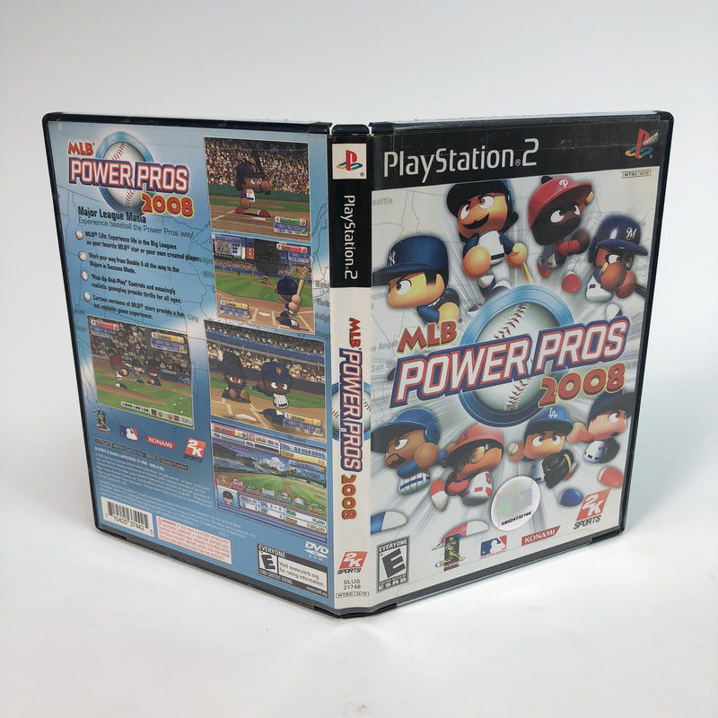 MLB Power Pros 2008 Sony Playstation 2 PS2 Complete