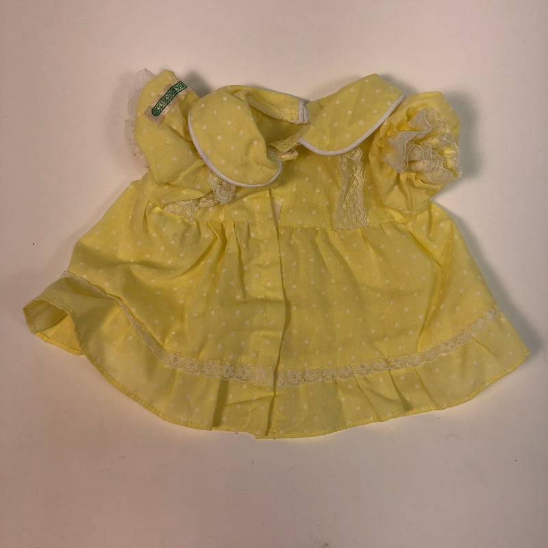 Cabbage Patch Kids CPK Yellow & White Polka Dot Dress & Bloomers
