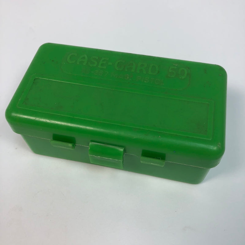 Case Gard 50 38-357 Mag Pistol Green Ammo Box