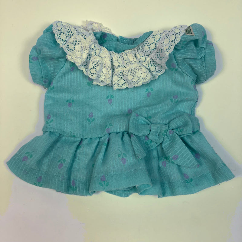 Cabbage Patch Kids CPK Blue Dress w/ Purple Flowers