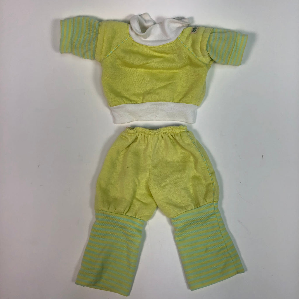 Cabbage Patch Kids CPK Yellow & Green Stripes Jogging Sweatsuit