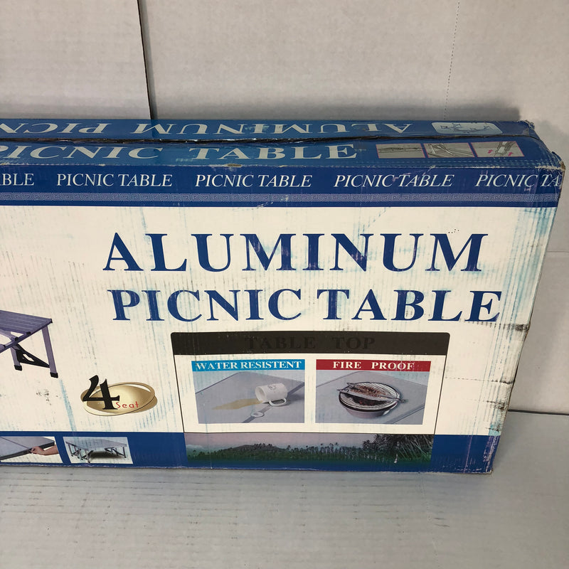 New Hengs 4 Person Aluminum Picnic Table