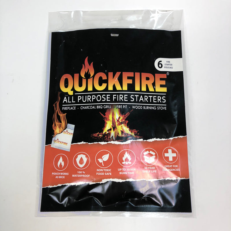 Quickfire All Purpose Fire Starters 6 Pouch Pack