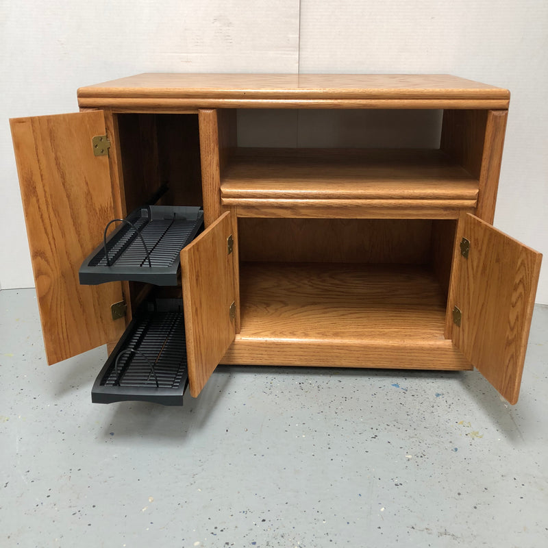 Wood TV Stand On Rollers