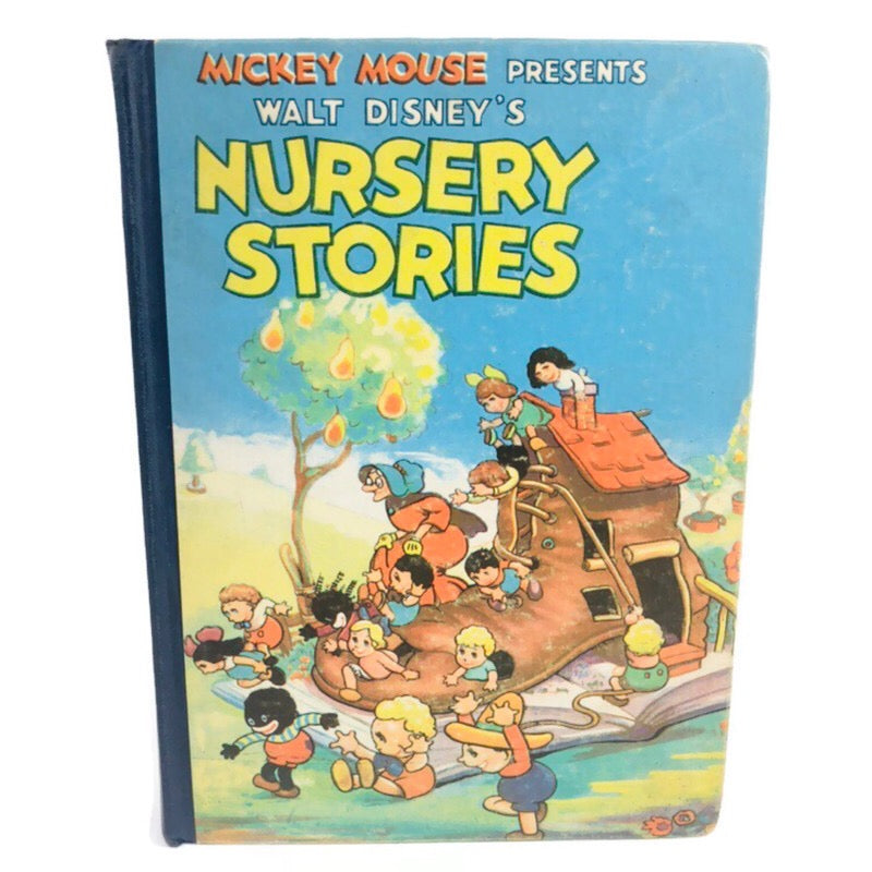 Mickey Mouse Presents Walt Disneys Nursery Stories 1937 Book