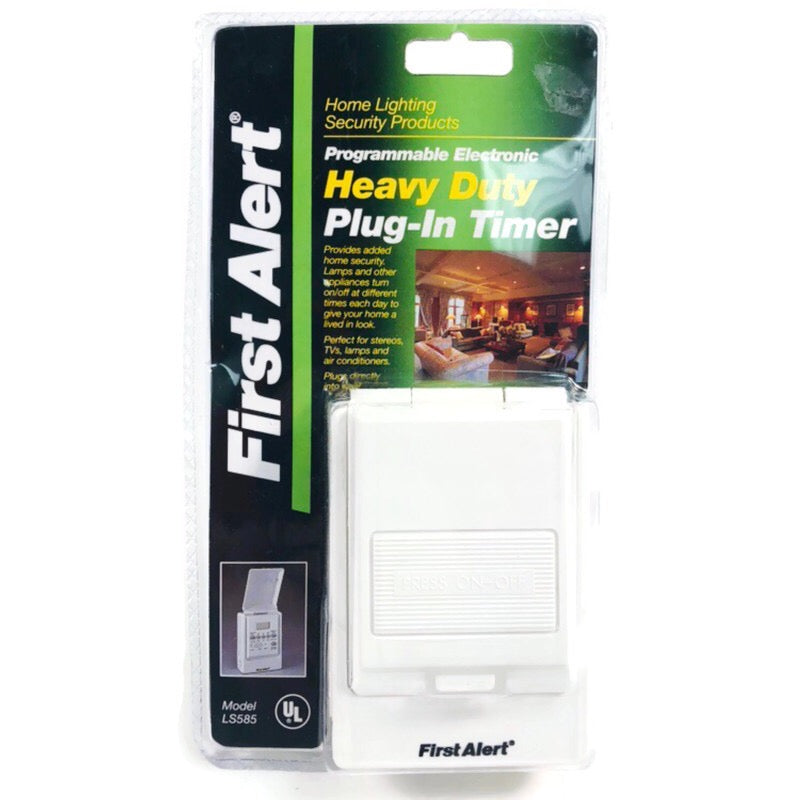 First Alert Programmable Electronic Heavy Duty Plug-In Timer LS585