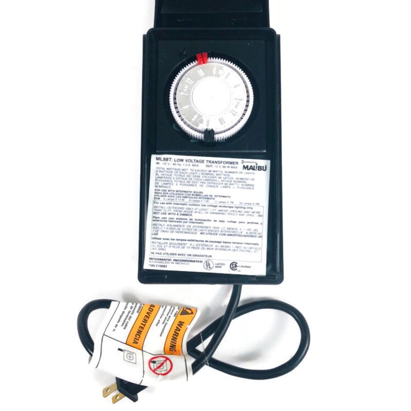 Intermatic Malibu Outdoor Low Voltage Transformer Lights Timer ML88T