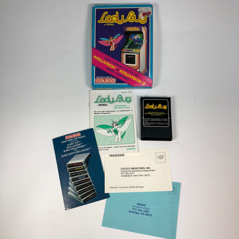 Lady Bug Intellivision Game Complete In Box CIB