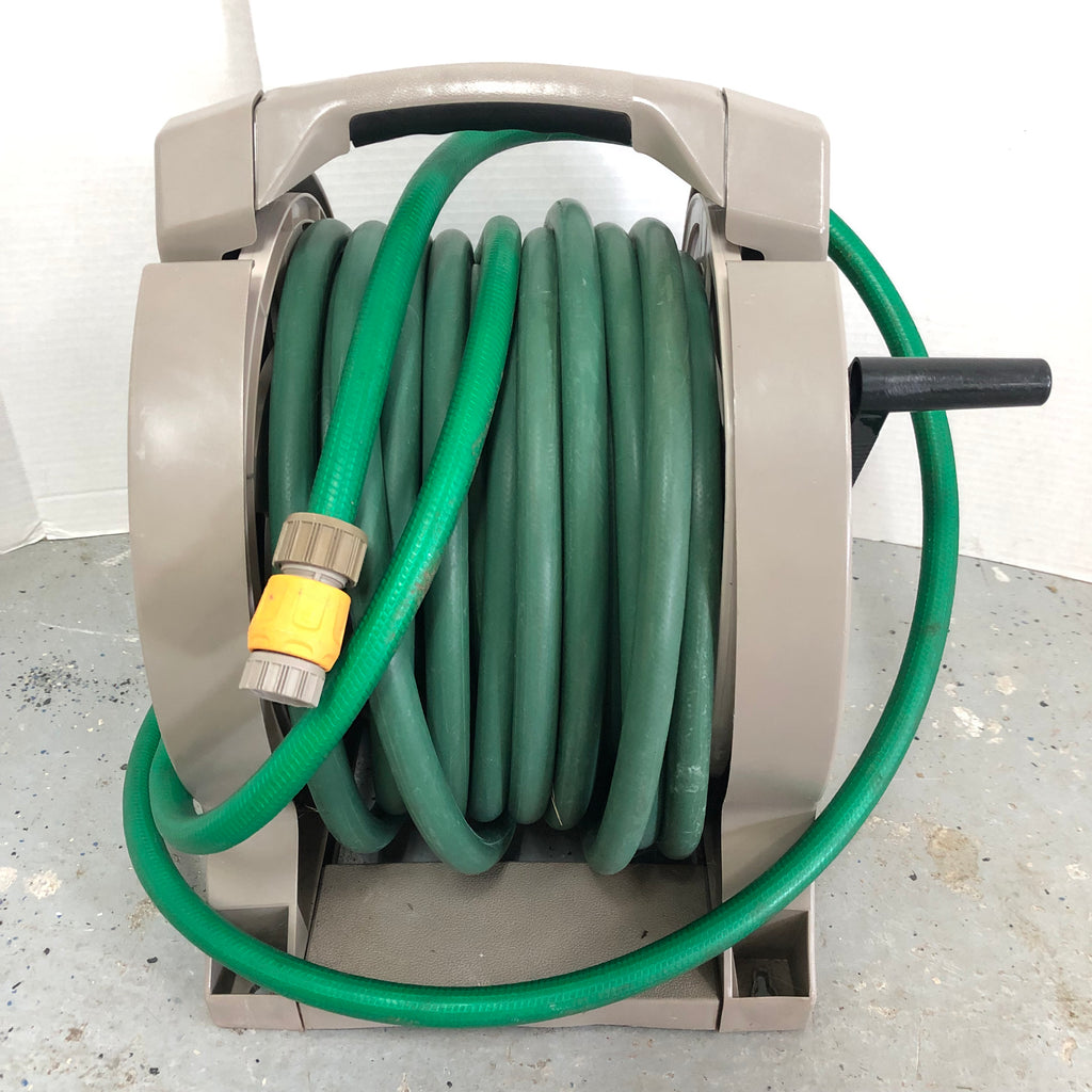 Suncast Garden Water Hose & Wind Up Reel Handler