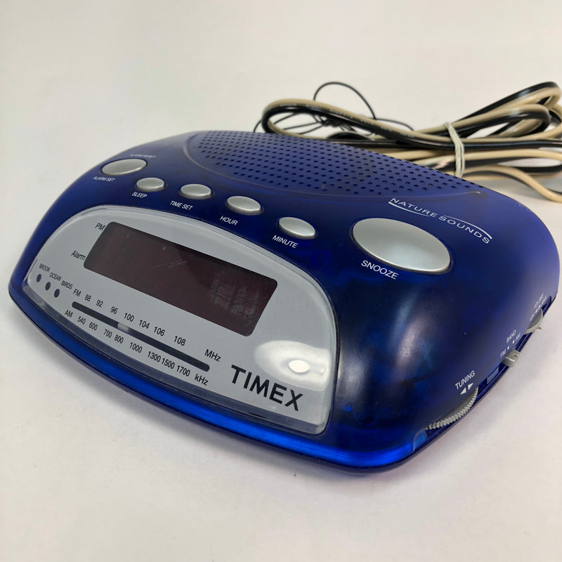 Timex Blue AM/FM Nature Sound Alarm Clock Radio T235DL