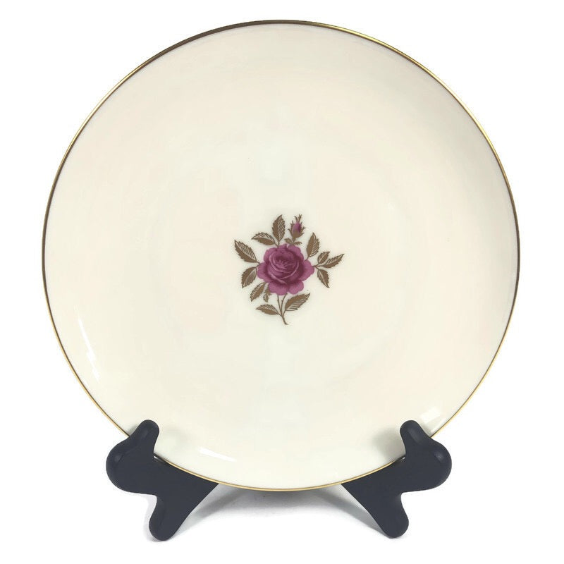 "Lenox Roselyn Ivory Rose Gold Trim 6.25"" Bread Butter Plate X304"