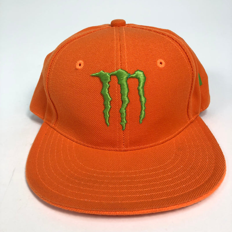 CityHunter Monster Energy Ultimate Fitted 7 1/8 Orange Flat Bill Hat
