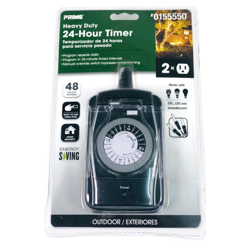 Prime Heavy Duty 24 Hour Timer 0155550